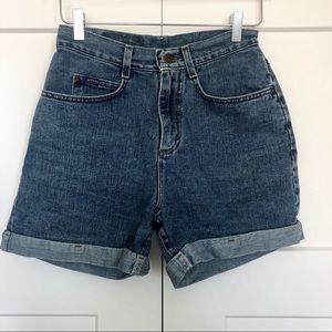 Vtg Riders by Lee Denim Mom Shorts High Waist Jean